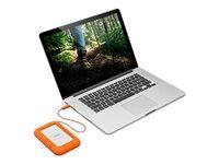 Bild von LACIE RUGGED 1TB USB-C USB3.0 Drop- crush- and rain-resistant for all-terrain use orange