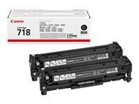 Bild von CANON 718 BK Toner schwarz Standardkapazität 3.400 Seiten 2er-Pack