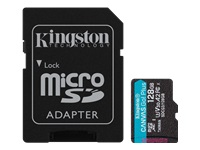 Bild von KINGSTON 128GB microSDXC Canvas Go Plus 170R A2 U3 V30 Card + ADP