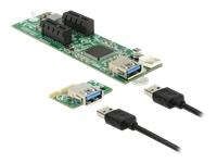 Bild von DELOCK Riser Karte PCI Express x1 > 2 x PCIe x1 mit 30 cm USB Kabel