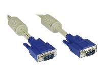 Bild von INLINE S-VGA Kabel, 15pol HD Stecker / Stecker beige 15m
