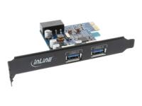 Bild von INLINE Schnittstellenkarte 2x USB 3.0 PCIe inkl. Low-Profile Slotblech