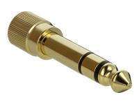 Bild von DELOCK Adapter 6,35 mm Klinkenstecker zu 3,5 mm Klinkenbuchse 3 Pin Metall verschraubbar