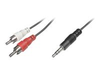 Bild von ASSMANN Audio Adapterkabel stereo 3.5mm - 2x RCA 2,50m CCS 2x0.10/10 geschirmt M/M schwarz