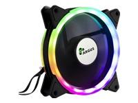 Bild von INTER-TECH Argus RS041 - RGB-FAN - einzeln oder mit dem RS04 Fan-Set steuerbar Y-Kabel fuer 3pin 5V RGB-Mainboardsteuerung inkl
