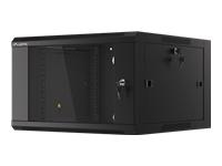 LANBERG 19inch rack 6U/570x600 black - Kovera Distribution