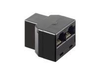 Bild von GOOBAY 10x ISDN T-Adapter RJ45-Buchse 8P8C auf 2 x RJ45-Buchse 8P8C schwarz