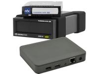 Bild von Bundle TANDBERG RDX External drive black USB3+ interface + 2xRDX 4.0TB Cartridge + SILEX DS 600 USB3 Device Server