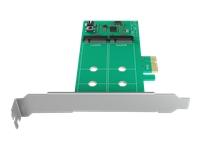 Bild von ICY BOX IB-PCI210 PCI-Karte unterstuetzt 2x M.2 SATA SSD zu PCIe 2.0 x1 mit RAID-Funktion 0 / 1