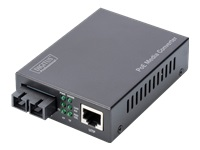 Bild von DIGITUS PoE Media Converter Multimode 10/100/1000Base-T zu 1000Base-SX Inkl. Netzteil 30W SC connector Up to 0.5km