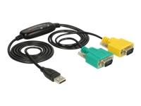 Bild von DELOCK Adapter USB 2.0 Typ-A > 2 x Seriell DB9 RS-232