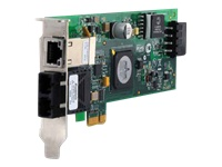 Bild von ALLIED 100Mbps Fast Ethernet PCI-Express Fiber Adapter Card SC connector mit 10/100/1000T POE includes both standard+low profile