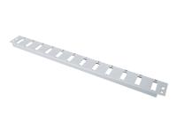 Bild von DIGITUS 6x SC Duplex Frontblende für Glasfaser Spleissbox DN-96200 Farbe Grau RAL 7035