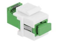 Bild von DELOCK Keystone Modul SC Simplex Buchse zu SC Simplex Buchse mit Laserschutzklappe innen