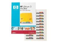 Bild von HPE LTO Ultrium 3 WORM bar code labels 100er-Pack automation