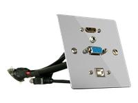 Bild von LINDY VGA HDMI USB Audio Wandanschlussplatte Metall