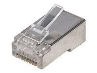 Bild von INTELLINET Cat5e RJ45 Modularstecker STP 3-Punkt-Aderkontaktierung fuer Massivdraht 100 Stecker pro Becher