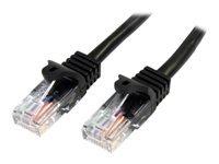 Bild von STARTECH.COM 0,5m Cat5e Ethernet Netzwerkkabel Snagless mit RJ45 - Cat 5e UTP Kabel - Schwarz