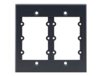 Bild von KRAMER Frame-2G/US grau - Rahmen fuer Wall-Plate Einsaetze 2-fache Rahmenbreite fuer 6 Einsaetze