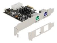 Bild von DELOCK PCI Express x1 Karte zu 2xPS/2 und USB Pfostenstecker - Low Profile Formfaktor