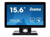 Bild von IIYAMA ProLite T1633MC-B1 39,62cm 15,6Zoll 39.6cm WIDE LCD 10-Points Touch Screen TN panel Flat Bezelfree Glass Front DP black