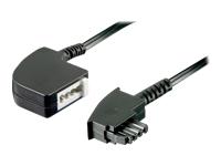 Bild von GOOBAY 10x TAE-F Verlängerung 15m schwarz 4-polig TAE-F-Stecker auf TAE-F-Buchse