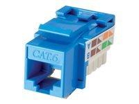 Bild von LINDY Cat.6 RJ45 UTP Keystone blau T568 A und B Farbcode