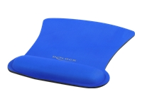 Bild von DELOCK Ergonomisches Mauspad mit Handballenauflage blau 255 x 207mm