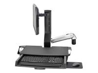 Bild von ERGOTRON SV Sit-Stand Combo Arm mit Arbeitsfläche und Pan poliertem Aluminium