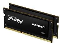 Bild von KINGSTON 16GB 1600MHz DDR3LCL9SODIMMKit of 21.35VFURYImpact