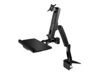 Bild von ICY BOX IB-MS600-T Tischhalterung fuer einen Monitor bis zu 24Zoll 61cm Tastatur-/ Mausablage Sitz-Stehe Sit-Stand Arbeitsplatz schw