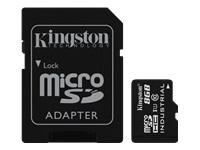 Bild von KINGSTON 8GB microSDHC UHS-I Class 10 Industrial Temp Card + SD Adapter