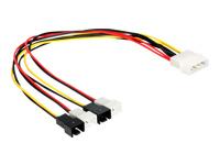 Bild von DELOCK Kabel Power Molex 4 Pin Stecker > 4x 2 Pin Stecker Lüfter