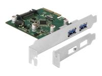 Bild von DELOCK PCI Express x4 Karte zu 2 x extern USB 3.1 Gen 2 Typ-A Buchse