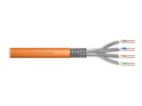 Bild von DIGITUS Duplex S-FTP PIMF Netzwerk Installationskabel CAT7 Twisted Pair 2x4x2xAWG23/1 LSZH 1200MHz orange RAL2000 100m Rolle Verlege