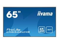 Bild von IIYAMA LH6542UHS-B3 Monitor 165,10cm 65Zoll 4K 3840x2160 500cd/m2 portrait and landscape VGA DVA HDMIx3 DP iiSignage