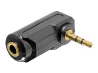 Bild von DELOCK Adapter Audio Klinke 3,5 mm 3 Pin Stecker > Buchse gewinkelt
