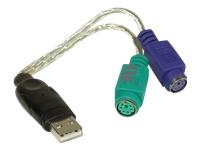 Bild von INLINE USB auf PS/2 Konverter USB Stecker an 2x PS/2 Buchse fuer Maus und Tastatur