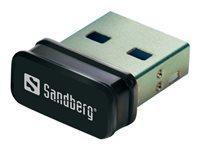 Bild von SANDBERG Micro WiFi USB Dongle. 802.11b 802.11g 802.11n USB2.0 Hi-Speed Bis 500M 1640F 150 Mbit/s