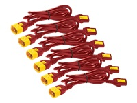 Bild von APC Power Cord Kit 6 ea Locking C13 TO C14 0.6m Red