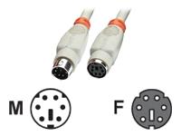 Bild von LINDY PS/2 Kabel, 1m, m/f, geschirmt Verlängerung, vergossen