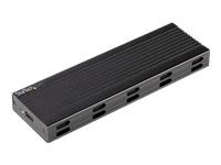 Bild von STARTECH.COM M.2 USB-C 10Gbps to M.2 NVMe or M.2 SATA SSD Enclosure - Portable External M.2 PCIe/SATA NGFF SSD Aluminum Case