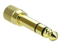 Bild von DELOCK Adapter 6,35mm Klinkenstecker zu 3,5mm Klinkenbuchse 3 Pin Metall verschraubbar