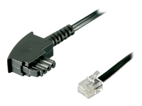 Bild von GOOBAY 10x TAE-F-Anschlusskabel 6 Meter Universal-Pin Out TAE-F-Stecker auf RJ11/RJ14-Stecker 6P4C