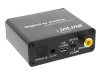 Bild von INLINE Audio-Konverter Digital zu Analog Toslink & Cinch Eingang zu Cinch Stereo Ausgang USB Power