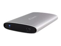 Bild von FANTEC ALU-25U31 500GB SSD Externe 6,35cm SSD Festplatte mit USB 3.1 Typ C Anschluss Datentransfer bis zu 10 Gbit/s Aluminium
