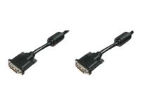 Bild von ASSMANN DVI Anschlusskabel DVI(24+1) 2x Ferrit St/St 10,0m DVI-D Dual link sw