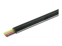 Bild von GOOBAY 4x Telefonflachkabel 100 m Rolle schwarz AWG 30 CU Kupfer