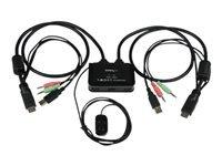 Bild von 2 Port USB HDMI KVM Switch mit Audio und Fernschalter - Desktop Umschalter USB Powered - 1920x1200
