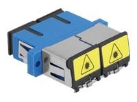 Bild von DELOCK LWL Kupplung mit Laserschutzklappe SC Duplex Buchse zu SC Duplex Buchse Singlemode blau